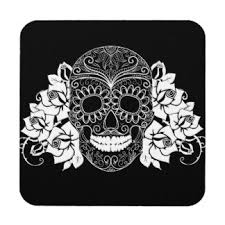 Day Of The Dead White Day Of The Dead Drink U0026 Beverage Coasters Zazzle