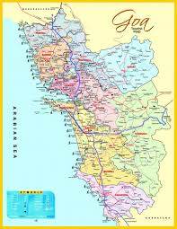 States Of India Map by Map Of Goa Tiny Little State In India Look At That Long