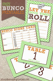 free printable table tents free bunco printables includes invitation scorecards and table