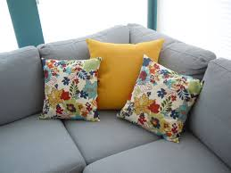 Living Room Pillows by Bedroom Grey Sectional Couches With Yellow And Floral Tos Cheap