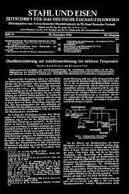 Sch E K Hen Stahl Und Eisen Zeitschrift Für Das Deutsche Eisenhüttenwesen H