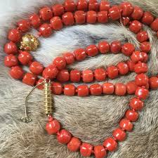 coral necklace images Rare antique large hand cut 100 natural red coral necklace jpg