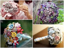 How To Make Wedding Bouquets 20 Vintage Brooch Wedding Bouquets Blissfully Domestic