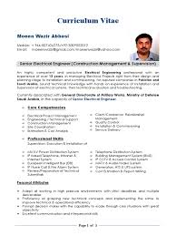Electrical Project Engineer Resume Sample Download Electrical Engineer Cv Sample Docshare Tips