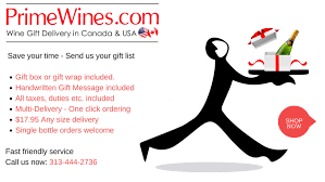 wine delivery gift send wine chagne gifts to canada today personalized fast