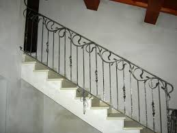 Stair Banister Minimalist Wrought Iron Stair Balusters Designs Wrought Iron
