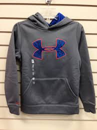 armour sweater youth armour sweatshirt gray and blue apparel