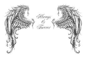 sketch for a wing tatto by kikksi on deviantart