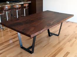 walnut dining table base heather and fred studios claro walnut slab dining table with steel