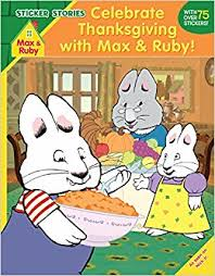 celebrate thanksgiving with max and ruby sticker stories