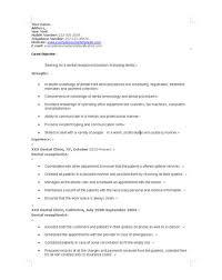 Medical Front Desk Resume Sample Receptionist Resume Objective Resume Examples For Medical
