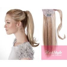 ponytail extension clip in ponytail wrap braid hair extension 24