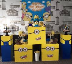 minions birthday party ideas minions birthday party styling setup custom props wish