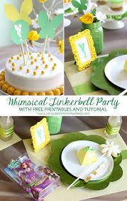 free printable tinkerbell whimsical tinker bell party with free printables and tutorial