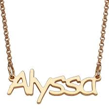 necklaces names personalized gold sterling silver name necklace