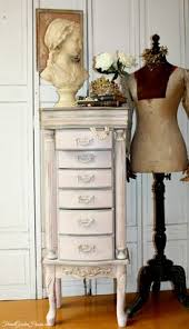 Jewelry Armoire Antique White Shabby Chic Antique White Distressed U2013 Jewelry Armoire Pink Lining