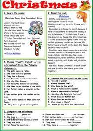 christmas christmas pinterest english worksheets and