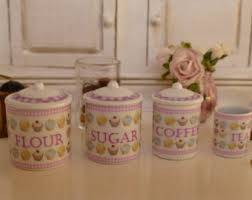 cupcake canisters for kitchen 1 12 scale botanic fruits dollhouse miniature canisters