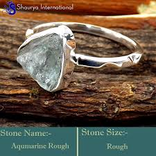 gemstones silver rings images Aquamarine rough d srr996 925 sterling silver fabulous rough jpg