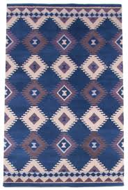 Modern Blue Rug Modern Southwestern Contemporary Hand Tufted Wool Rug 5x8 Blue