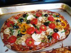 weight watchers simply filling veggie pizza she used a flat out