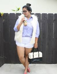 Lilly Starbucks Fur Vest And Summer Shorts Ootd Summer Shorts White Fur Vest