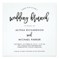 wording for day after wedding brunch invitation after wedding party invitations announcements zazzle
