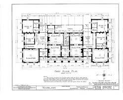 Lynnewood Hall Floor Plan by Woodlawn Plantation Mansion Napoleonville Louisiana First Floor