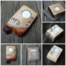 single personalized tealight holder wood candle holder