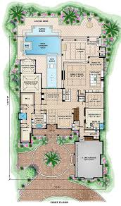 beach style house plan 6 beds 6 50 baths 10605 sq ft plan 27 462