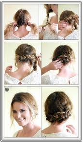 easy updos for short hair tutorial hairstyles pinterest