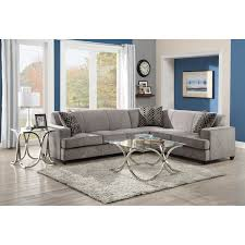 Charcoal Gray Sectional Sofa With Chaise Lounge by Gray Fabric Contemporary Double Chaise Sectional Sofa Hamiltons