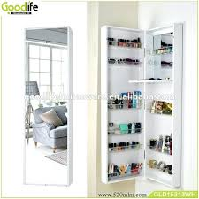 Free Standing Full Length Mirror Jewelry Armoire Wall Mounted Mirrored Jewelry Armoire Wooden Makeup Cabinet