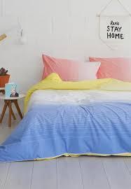 sunrise duvet cover set u2013 blue linen house bedding superbalist com