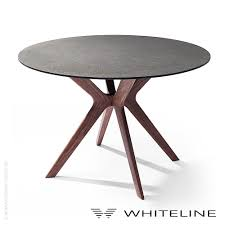redondo dining table by whiteline round dining table solid wood