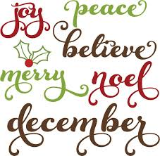 free christmas words clipart clipground