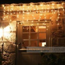 lumineo 9494848 led connect outdoor icicle lights warm white ebay
