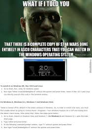 Memes In Text Form - enjoy star wars in ascii characters form everyone by metallion