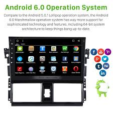 inch android 6 0 2013 2014 toyota vios gps radio with 1024 600