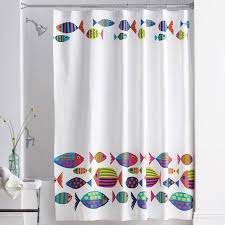Shower Curtains With Fish Theme Curtain Astonishing Fish Shower Curtain Awesome Fish Shower