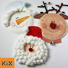 Holiday Crafts On Pinterest - paper plate santa snowman and rudolph christmas characters