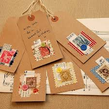 six handmade vintage collage gift tags found on notonthehighstreet