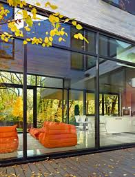 Orange Sofa Living Room by Furniture Glass Wall Wooden Deck Orange Couch Living Room