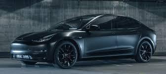 matte black tesla model 3 in matte black makes a comeback with aftermarket