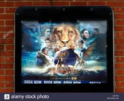 narnia film poster film poster advertising narnia outside odean cinema england stock