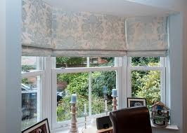 Smith Noble Roman Shades A Three Blind Bay Window Fabric By Laura Ashley Bespoke Blinds
