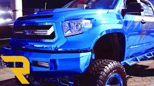 tundra chrome blue custom 2016 toyota tundra wide body sema 2016 youtube