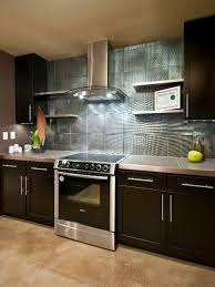 do it yourself diy kitchen backsplash ideas hgtv pictures hgtv go glitz with lucite knobs