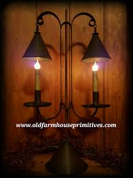 primitive colonial tin lighting