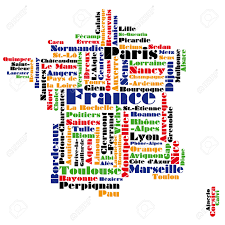 Map Of Lyon France by Abstract Vector Map Of France Word Cloud Royalty Free Cliparts